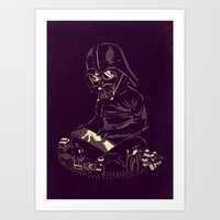 dark side Art Prints featuring Dark Side by yortsiraulo