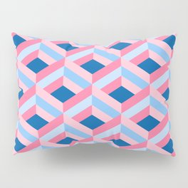 Blue & Pink Diamond Mesh Pillow Sham