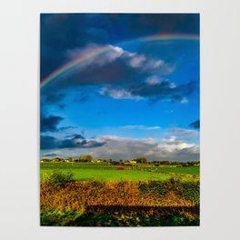 Rainbow over Ireland Poster