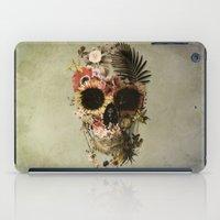 garden iPad Cases featuring Garden Skull Light by Ali GULEC