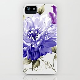 Flowers are full of romance,the leaves and flowers art design iPhone Case