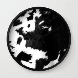 Rustic Cowhide Wall Clock