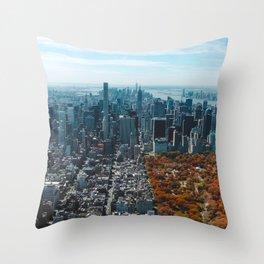 Central Park New York City Skyline Throw Pillow
