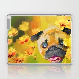 Pug in Daisies Laptop & iPad Skin