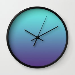Ultra Violet Teal Ombre Gradient Pattern | Trendy color of the Year 2018 Wall Clock