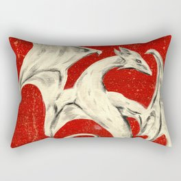 White Dragon Rectangular Pillow