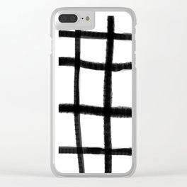 Wobble Grid Clear iPhone Case