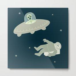 Murder in Space, She Drew Metal Print