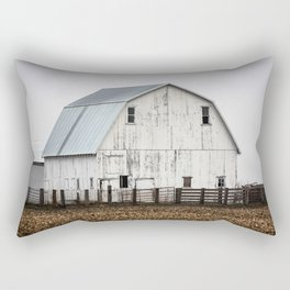 White Barn - Large Weathered Barn in Illinois Rectangular Pillow