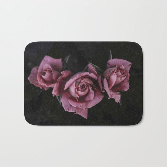 Pink Roses Vintage Bath Mat