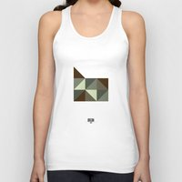 oregon Tank Tops featuring Geometric Oregon by INDUR