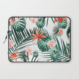 Tropical Flowers & Leaves Paradise #2 #tropical #decor #art #society6 Laptop Sleeve