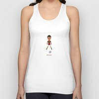 ronaldo Tank Tops featuring Ronaldo Free kick (Portugal) by 8bit Football