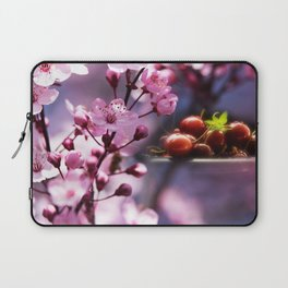 Fresh cherries in the pink blossom dream Laptop Sleeve