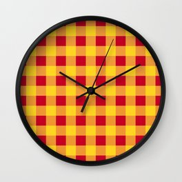 Red and Yellow Buffalo Check - more colors Wall Clock