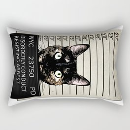 Kitty Mugshot Rectangular Pillow