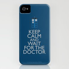 Keep Calm and wait for the Doctor iPhone (4, 4s) Slim Case