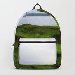 green grass carpet Backpack