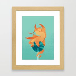 Dragonpop spiky citric blueberry Framed Art Print