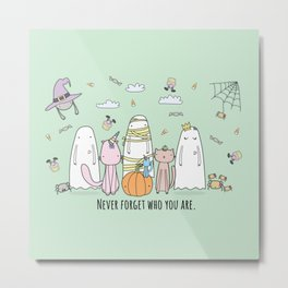 Happy Halloween Ghost Metal Print