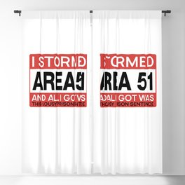 Area 51 Alien Justice Blackout Curtain