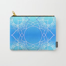 Lotus Mandala (Blue) Carry-All Pouch