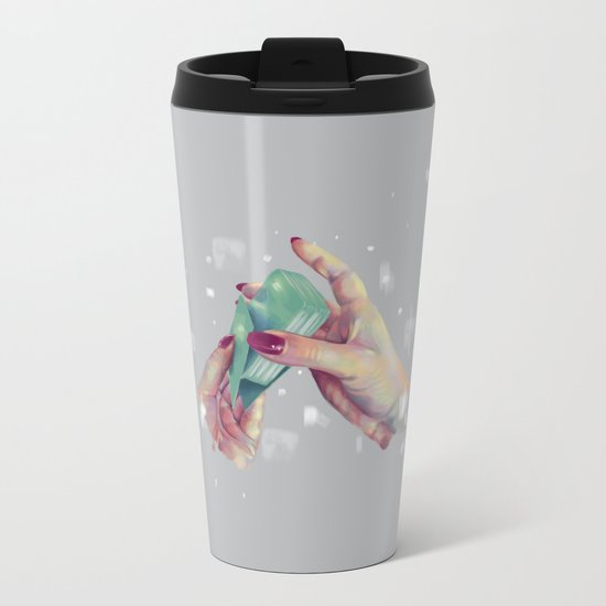 Hand Me the Card Metal Travel Mug
