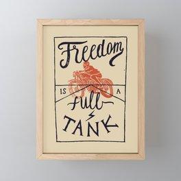 Freedom biker print Framed Mini Art Print