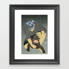 Alligator wrestling Framed Art Print