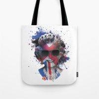 deadmau5 Tote Bags featuring Queen Listen Music by Sitchko Igor