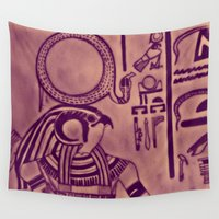 egyptian Wall Tapestries featuring Egyptian (Horus) by Aaron Carberry