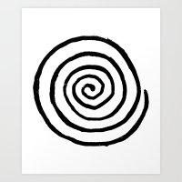 fibonacci Art Prints featuring Fibonacci by Geryes