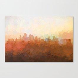 Kansas City, Missouri Skyline - In the Clouds Canvas Print