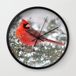 Winter's Beauty Cardinal Wall Clock