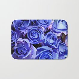 Blue Roses for You Bath Mat