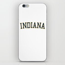 Indiana Sports College Font iPhone Skin