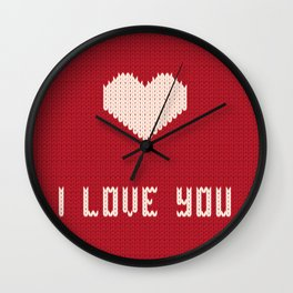I love you sweater Wall Clock