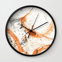 Orange - Splatter Artwork Wall Clock