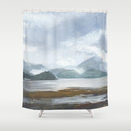 SITKA SOUND 01, Travel Sketch by Frank-Joseph Shower Curtain