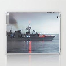 Warship Weighs Anchor Laptop & iPad Skin