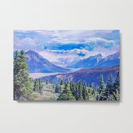 Neverland mountains Metal Print