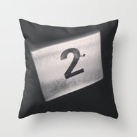 number Throw Pillows featuring Number 2 Table Number by Redhedge Photos