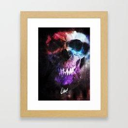 Geometric Skull v2 Framed Art Print