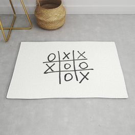 Tic tac toe, noughts and crosses game Rug