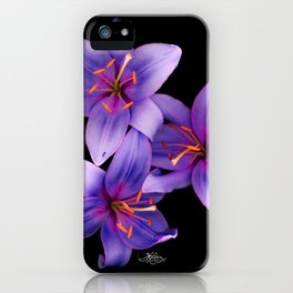 Beautiful Blue Ant Lilies, Flowers Scanography iPhone Case
