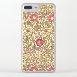 """William Morris """"Pink and Rose"""" 3. Clear iPhone Case"""