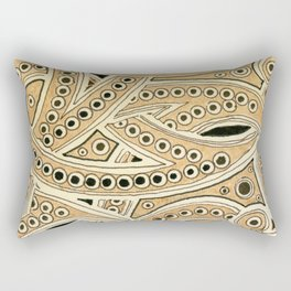 Golden Ribbons Rectangular Pillow