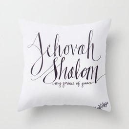 Jehovah Shalom Throw Pillow