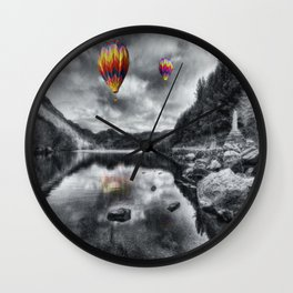 Above The Lake Wall Clock