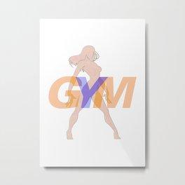 GYM Woman 3 Metal Print